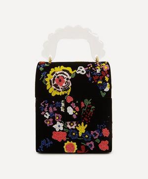 Bingley Floral Beaded Velvet Handbag