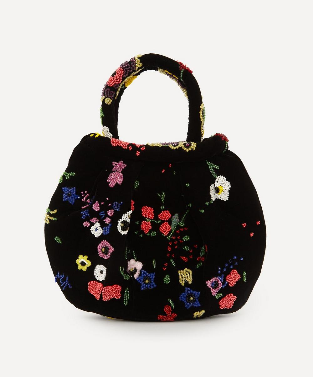 Shrimps - Louisa Floral Beaded Velvet Handbag