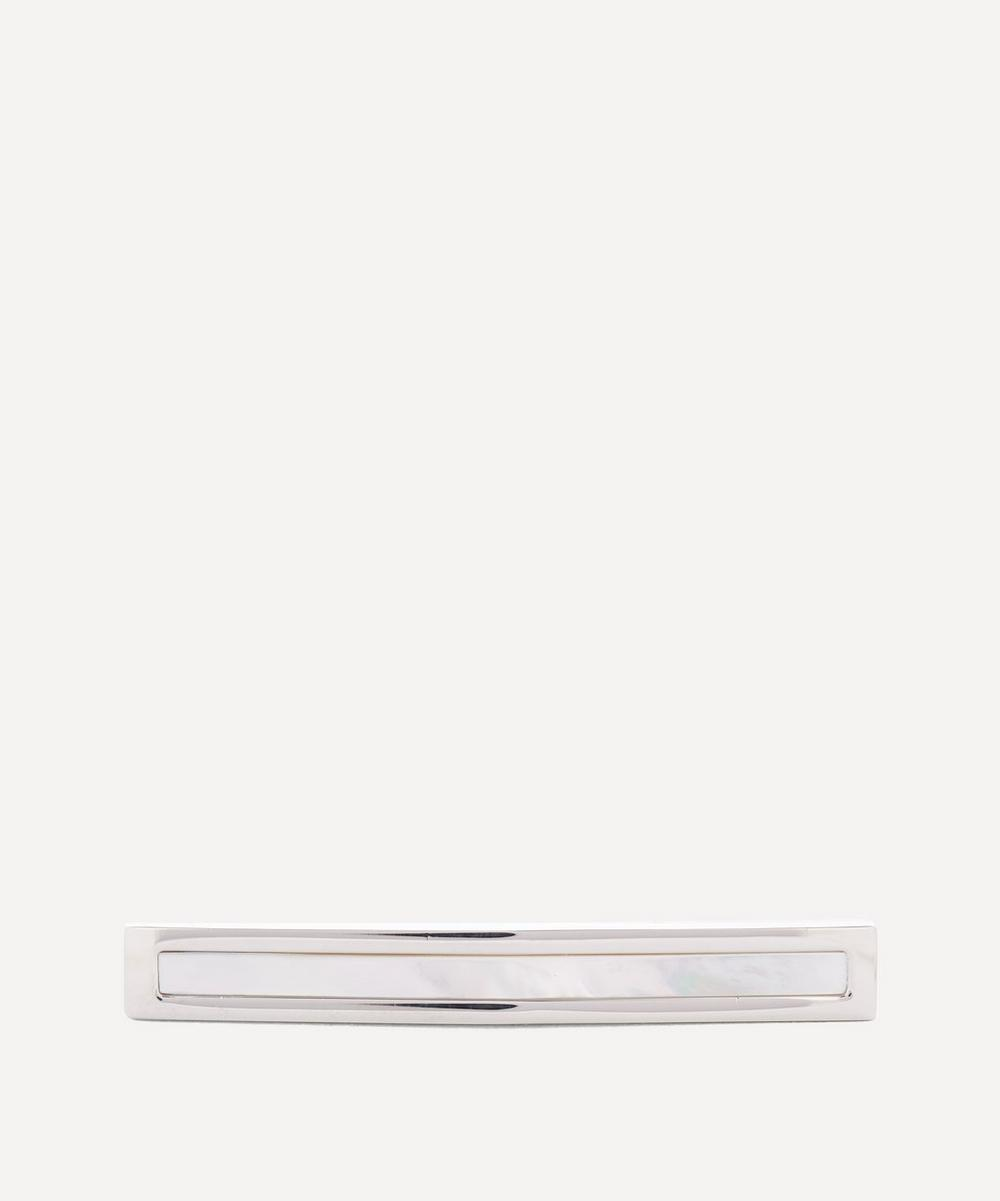 Simon Carter - Arched Mother of Pearl Tie Slide