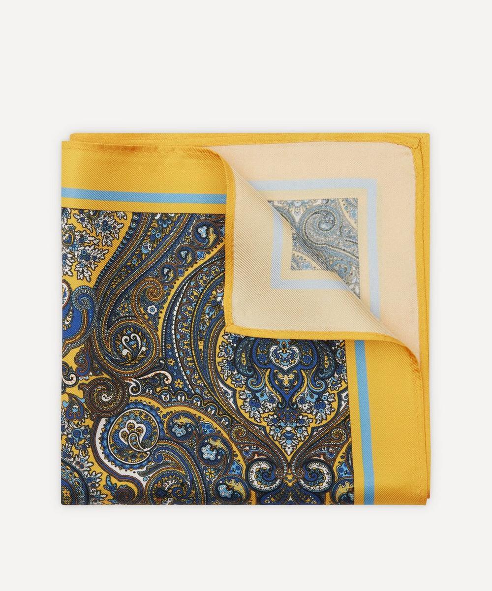 Simon Carter - Paisley Silk Pocket Square