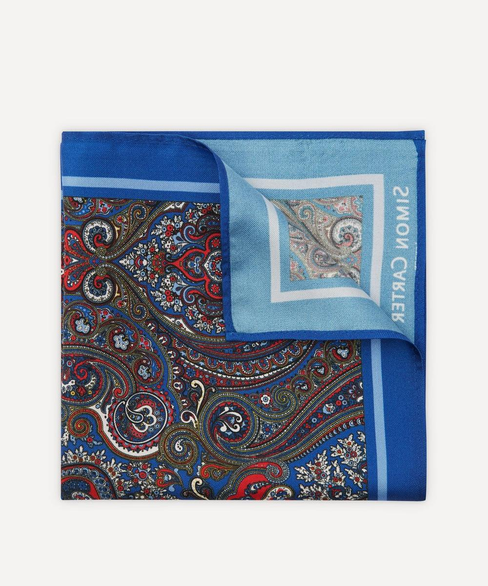 Simon Carter - Paisley Silk Pocket Square
