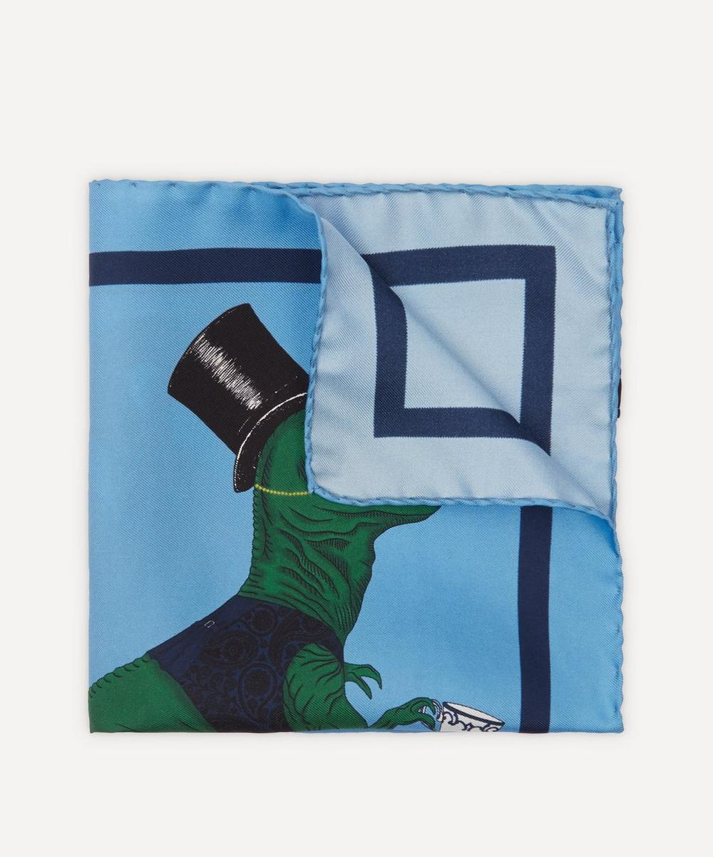 Simon Carter - T-Rex Silk Pocket Square