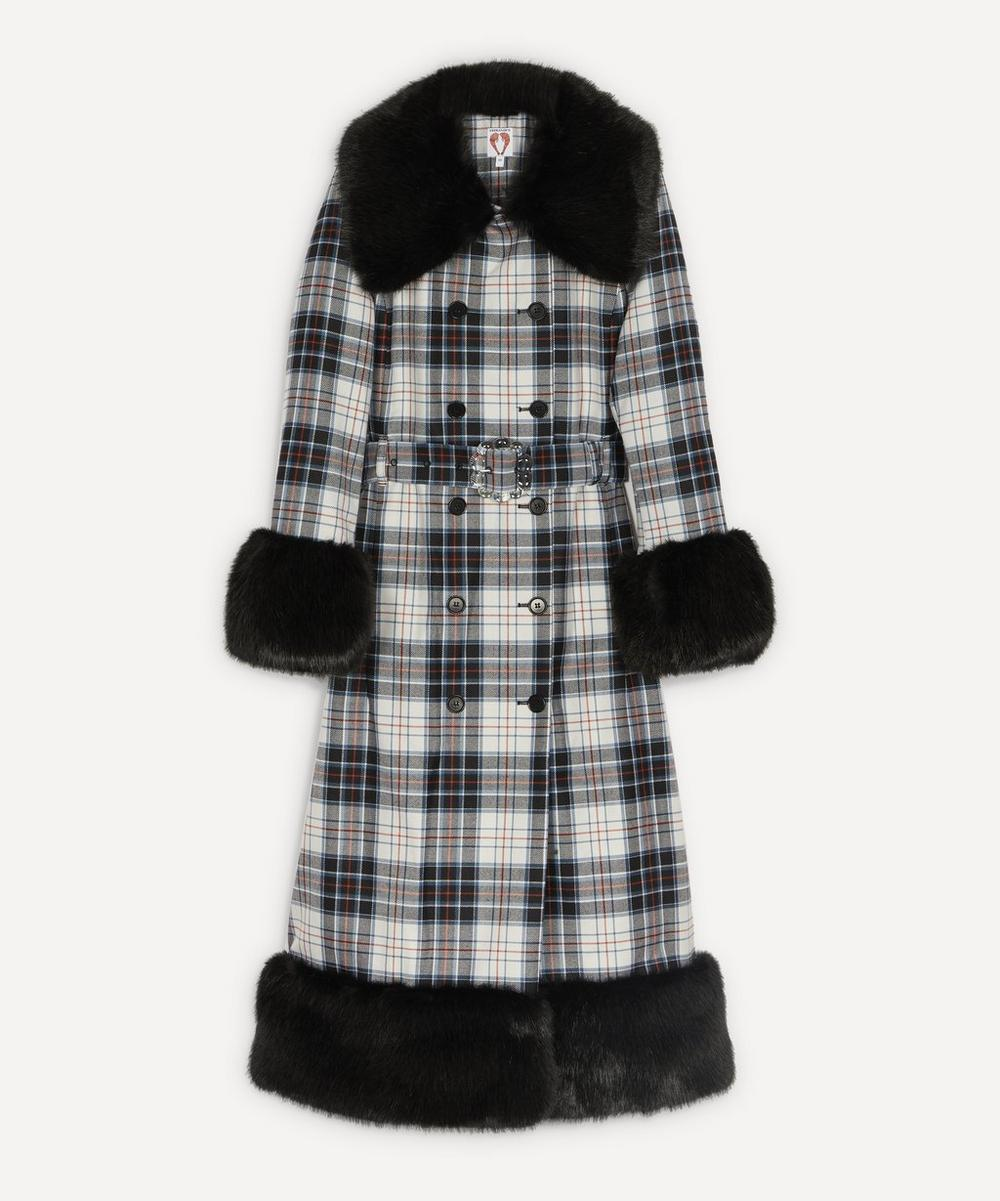 Shrimps - River Checked Faux-Fur Coat