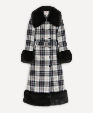 River Checked Faux-Fur Coat