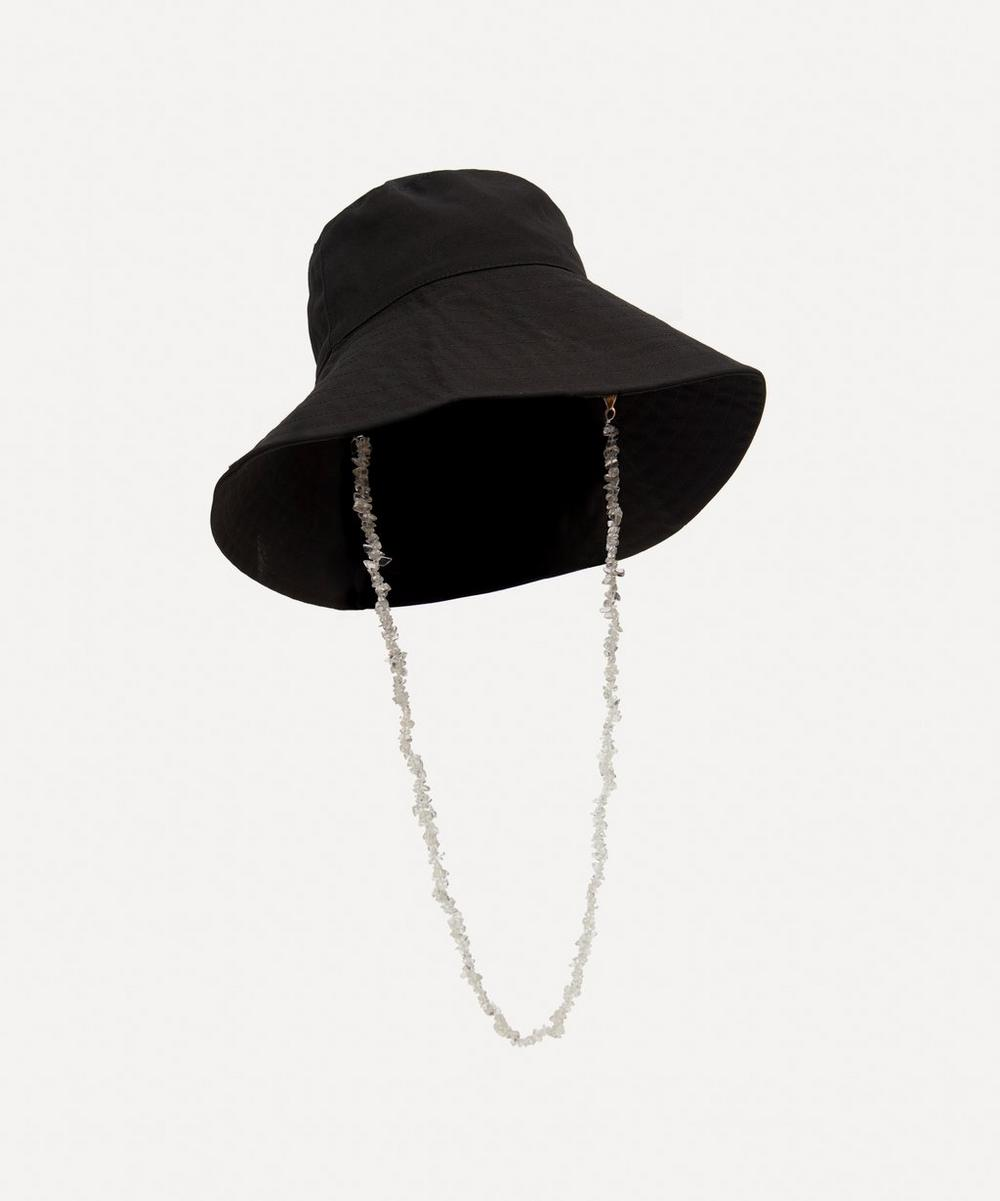 Shrimps - Esther Cotton Canvas Bucket Hat with Sea Glass Chain