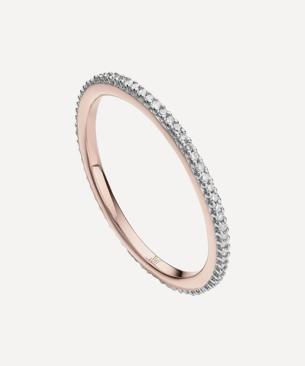 Monica Vinader - Rose Gold Plated Vermeil Silver Skinny Diamond Eternity Ring