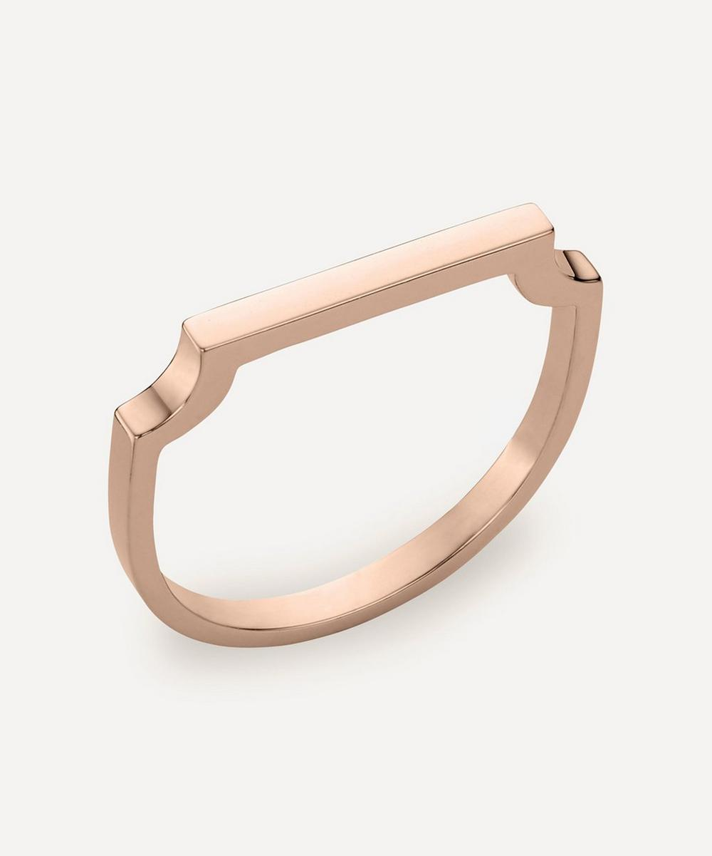 Monica Vinader - Rose Gold Plated Vermeil Silver Signature Thin Ring