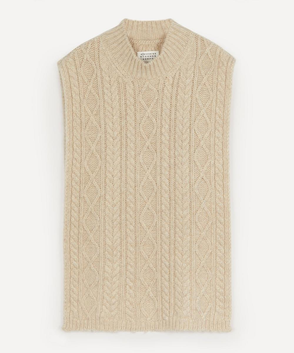Maison Margiela - Oversized Cable Knit Tabard