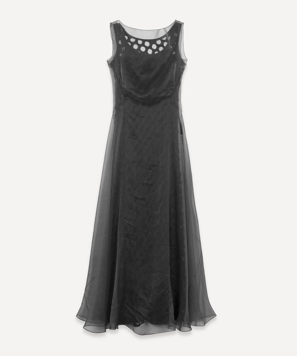 Maison Margiela - Sleeveless Silk Overlay Hole Punch Dress