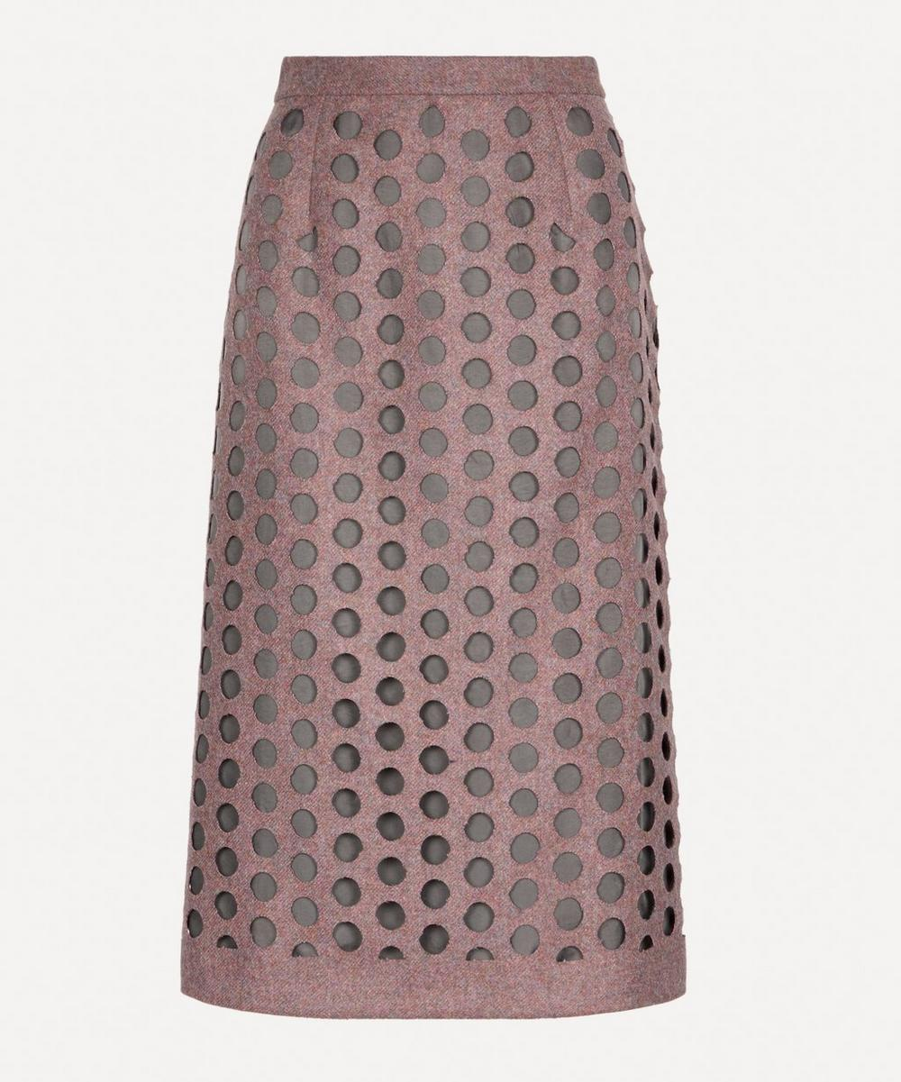 Maison Margiela - Hole Punch Midi-Skirt