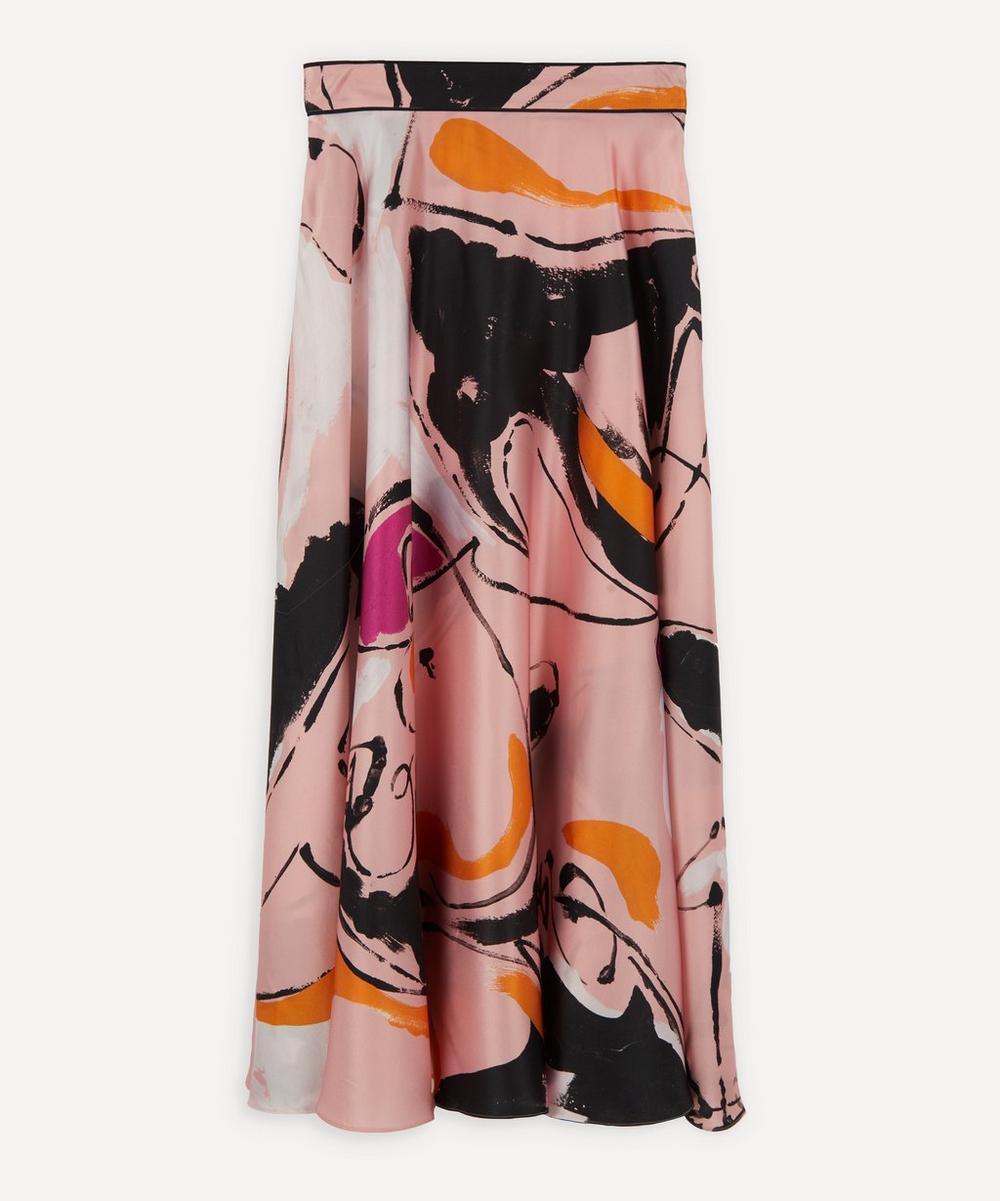 Roksanda - Colvin Silk-Satin Midi-Skirt