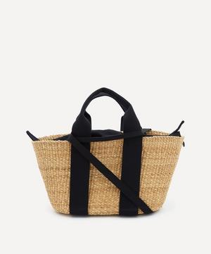 George Woven Straw and Cotton Tote Bag