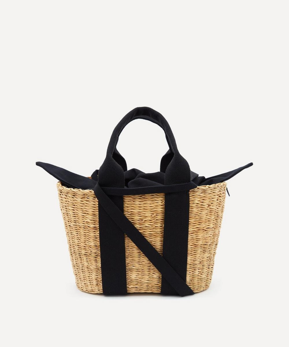 Muuñ - Mini Caba Woven Straw and Cotton Tote Bag