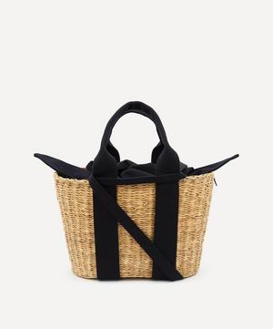 Mini Caba Woven Straw and Cotton Tote Bag