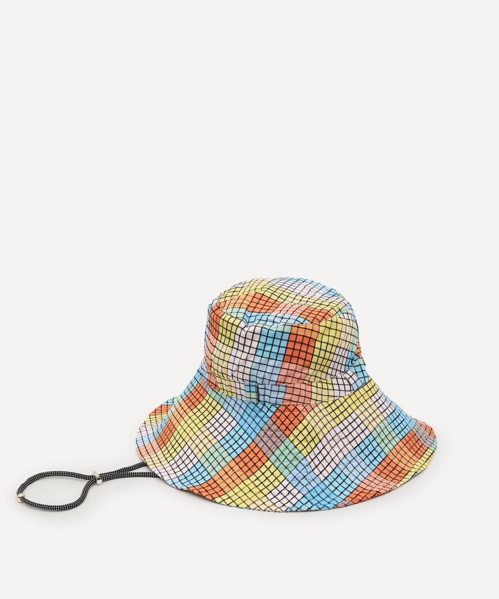 Ganni - Seersucker Bucket Hat