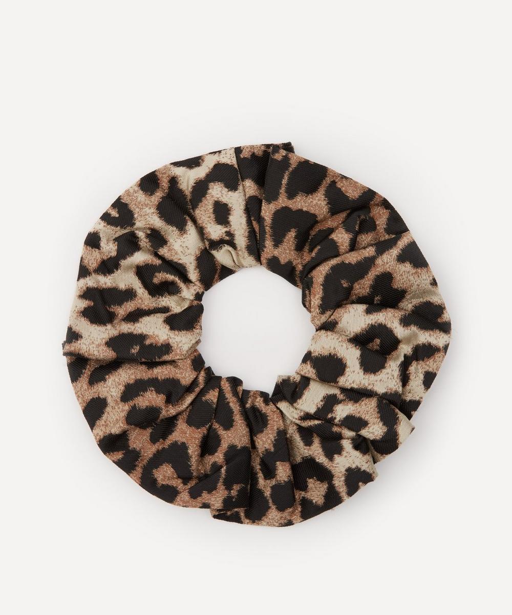 Ganni - Leopard Print Jacquard Scrunchie