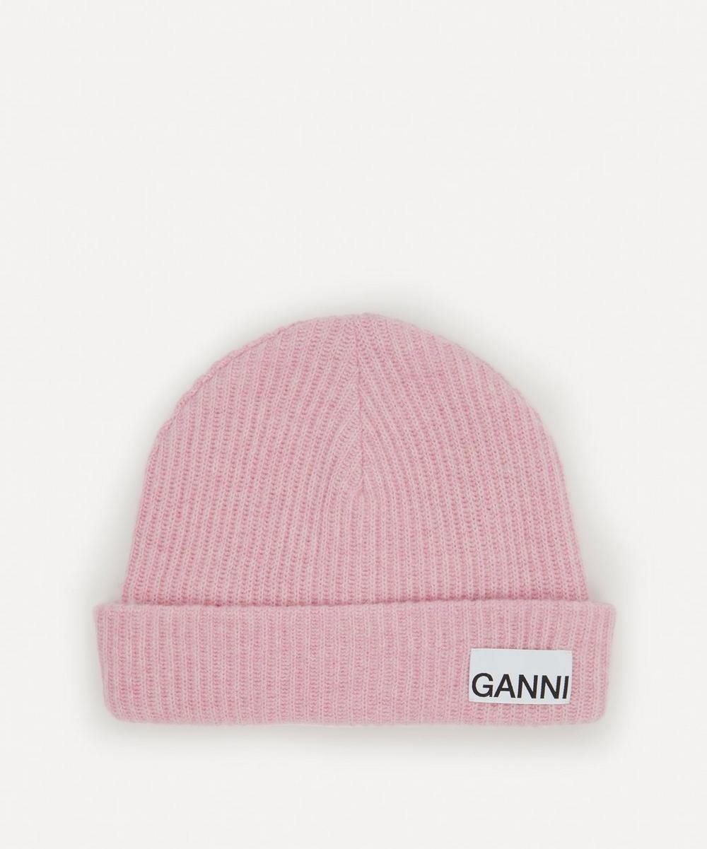 Ganni - Recycled Wool-Blend Beanie Hat
