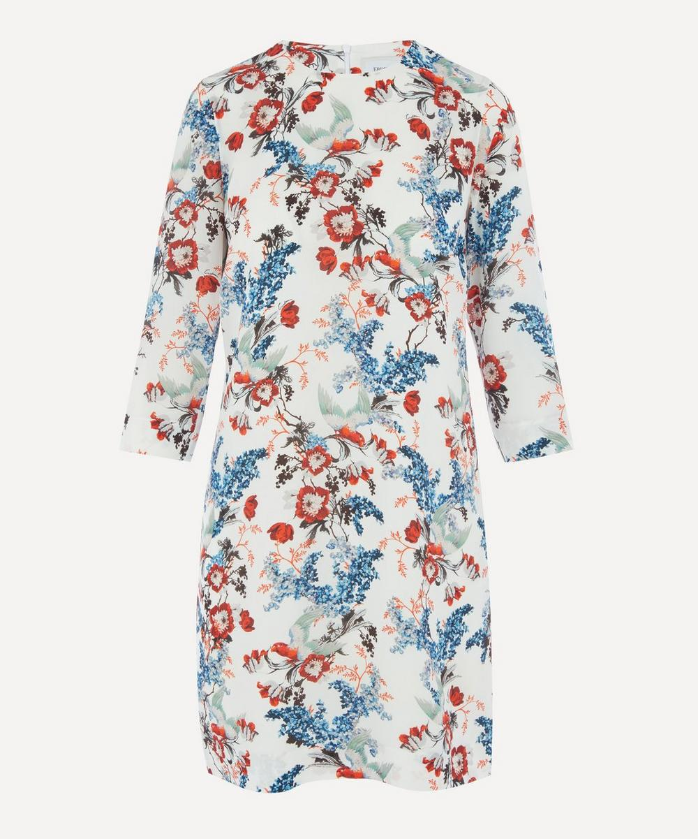Erdem - Bird Blossom Silk Shift-Dress