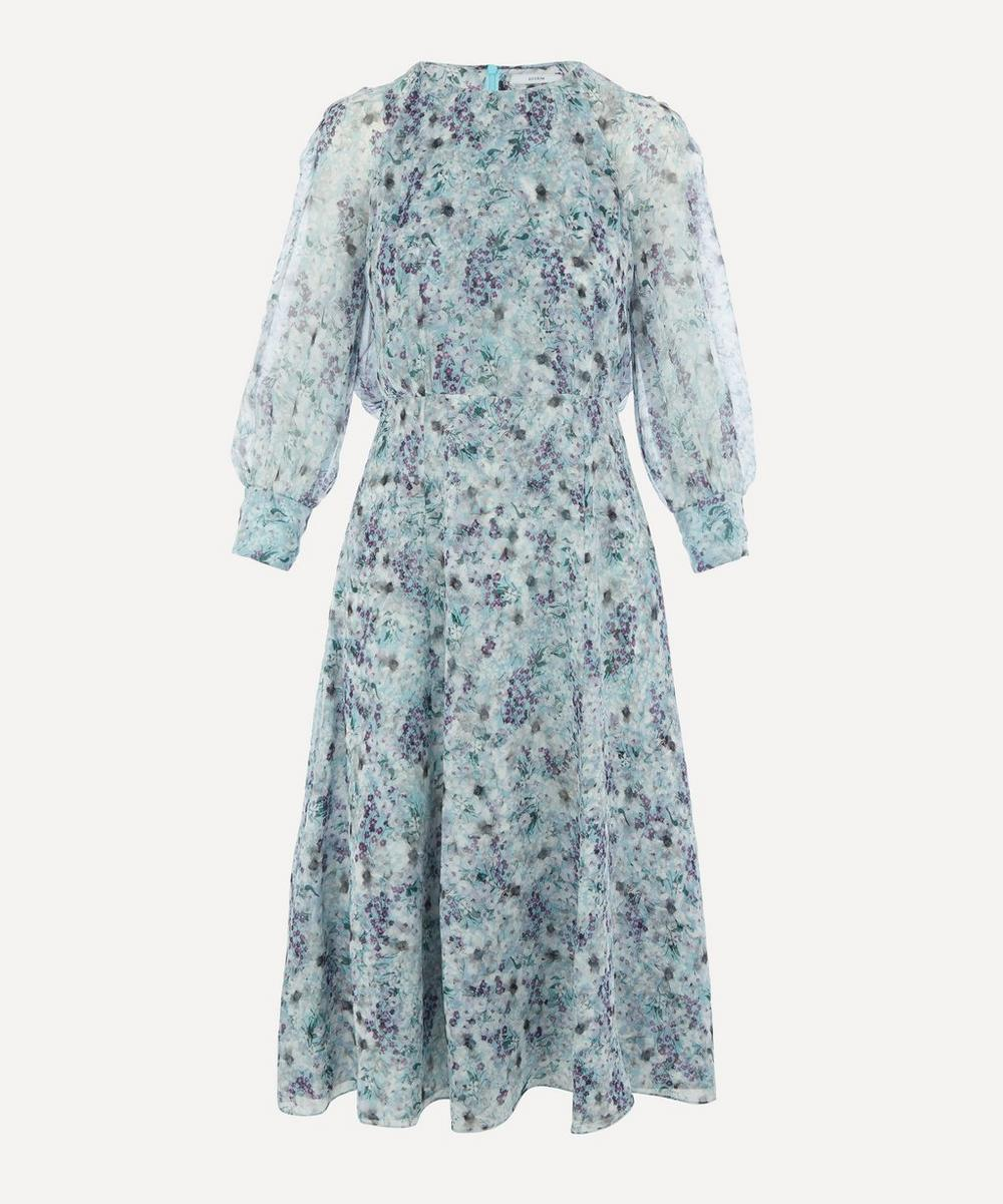 Erdem - Floral Draped Midi-Dress