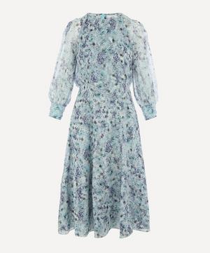Floral Draped Midi-Dress