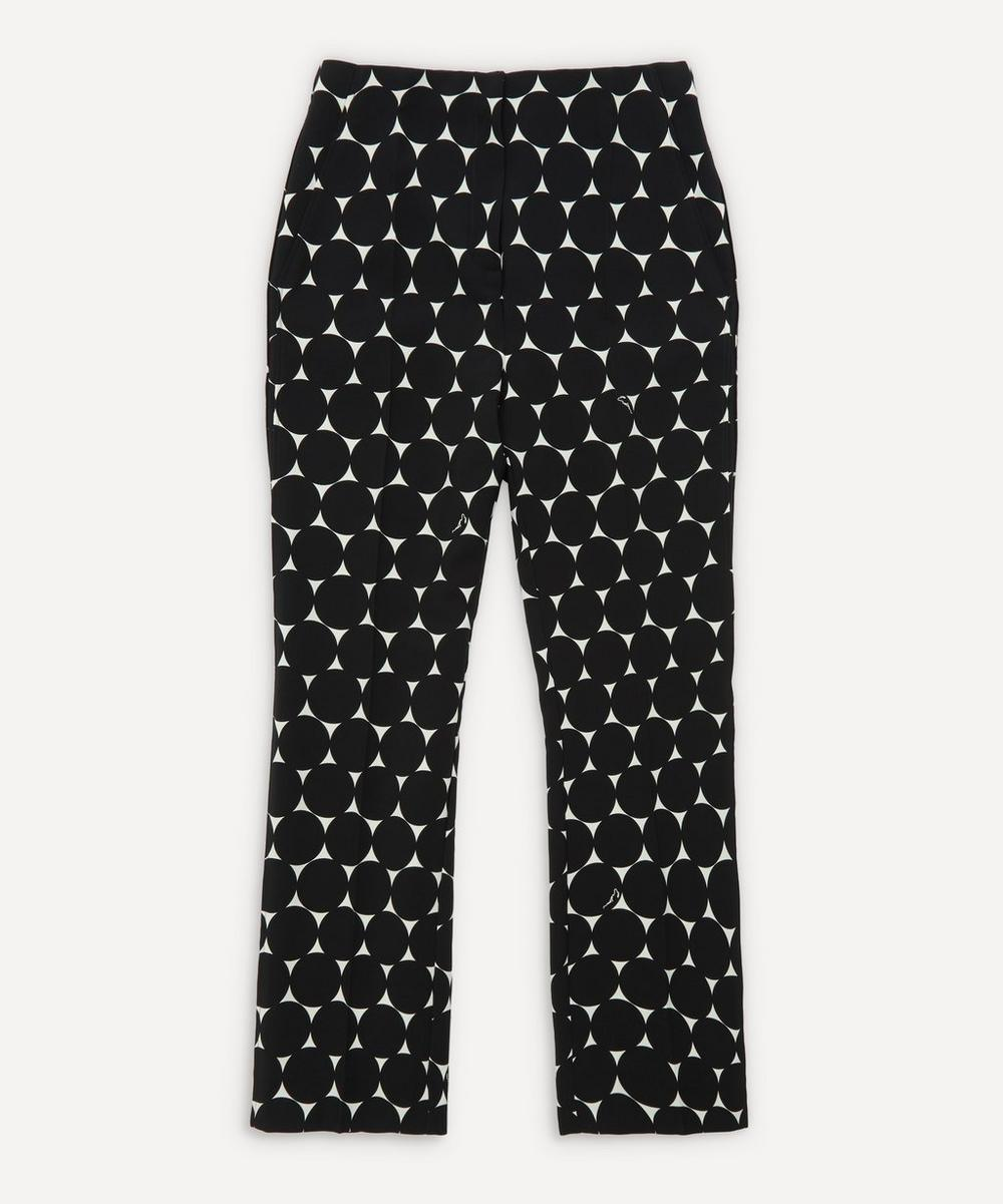 Erdem - Pansy Print Cigarette Trousers