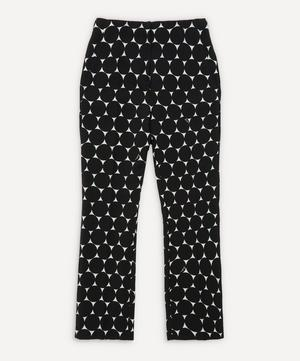 Pansy Print Cigarette Trousers