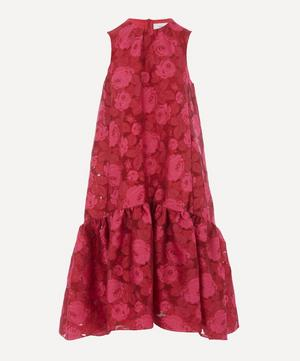 Tiered Rose Print Dress