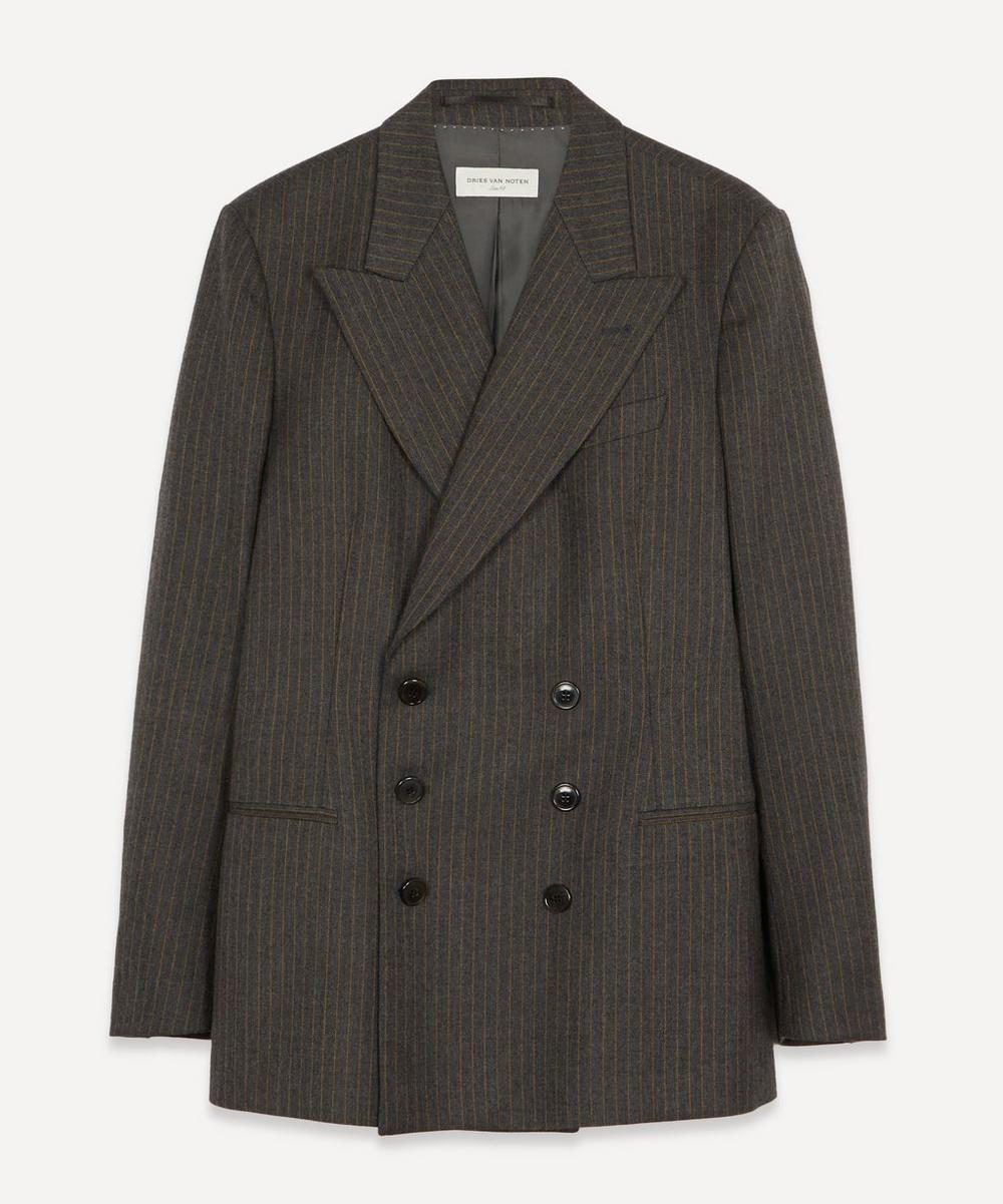 Dries Van Noten - Double-Breasted Pinstripe Wool Blazer