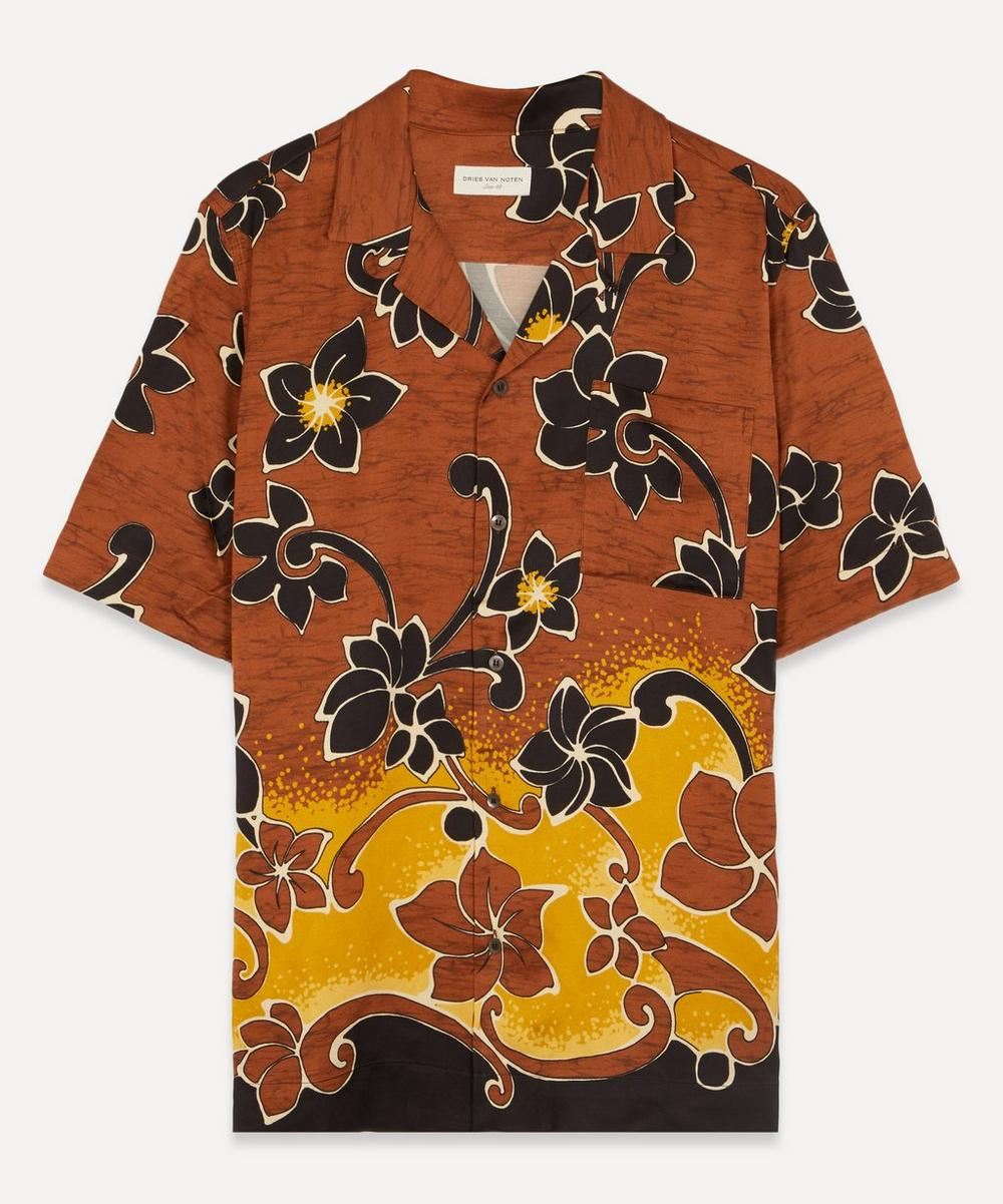 Dries Van Noten - Camp-Collar Floral Print Satin-Twill Shirt