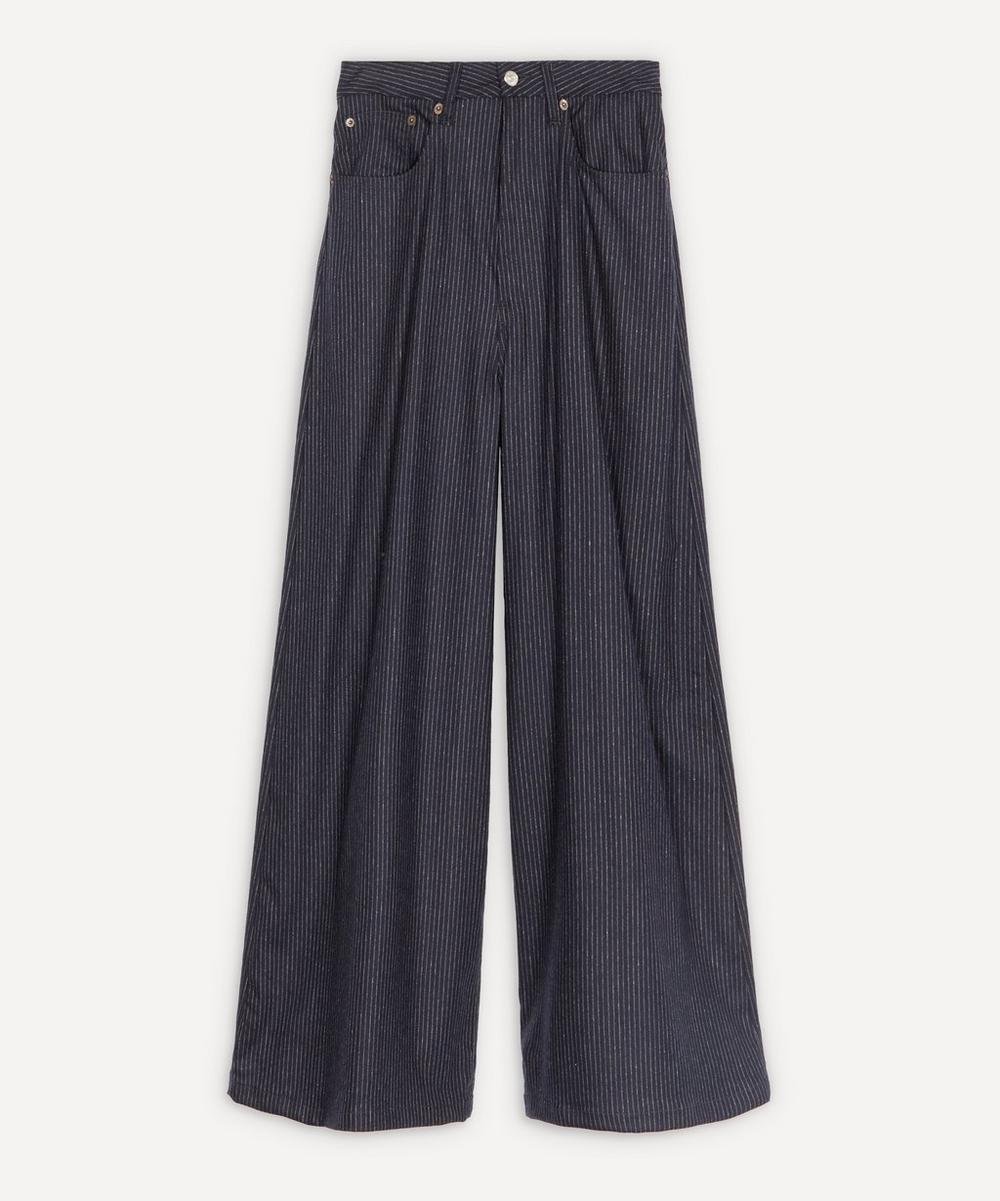 MM6 Maison Margiela - Wool Wide-Leg Trousers