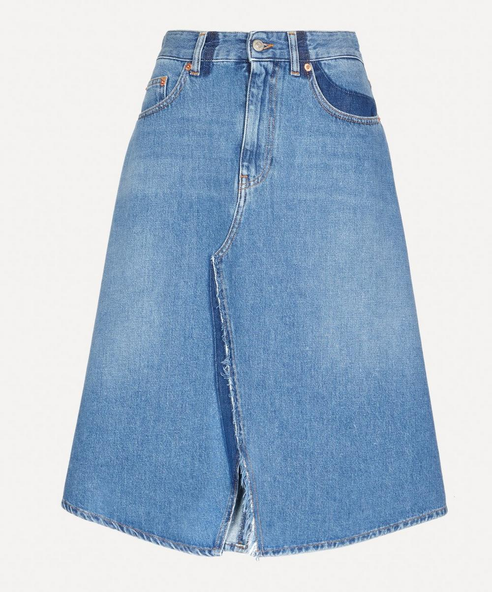 MM6 Maison Margiela - Split Front Denim Midi-Skirt