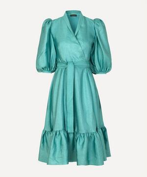 Chinie Puff Sleeves Midi Dress