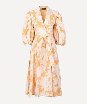 Belinda Flora Wrap Midi Dress