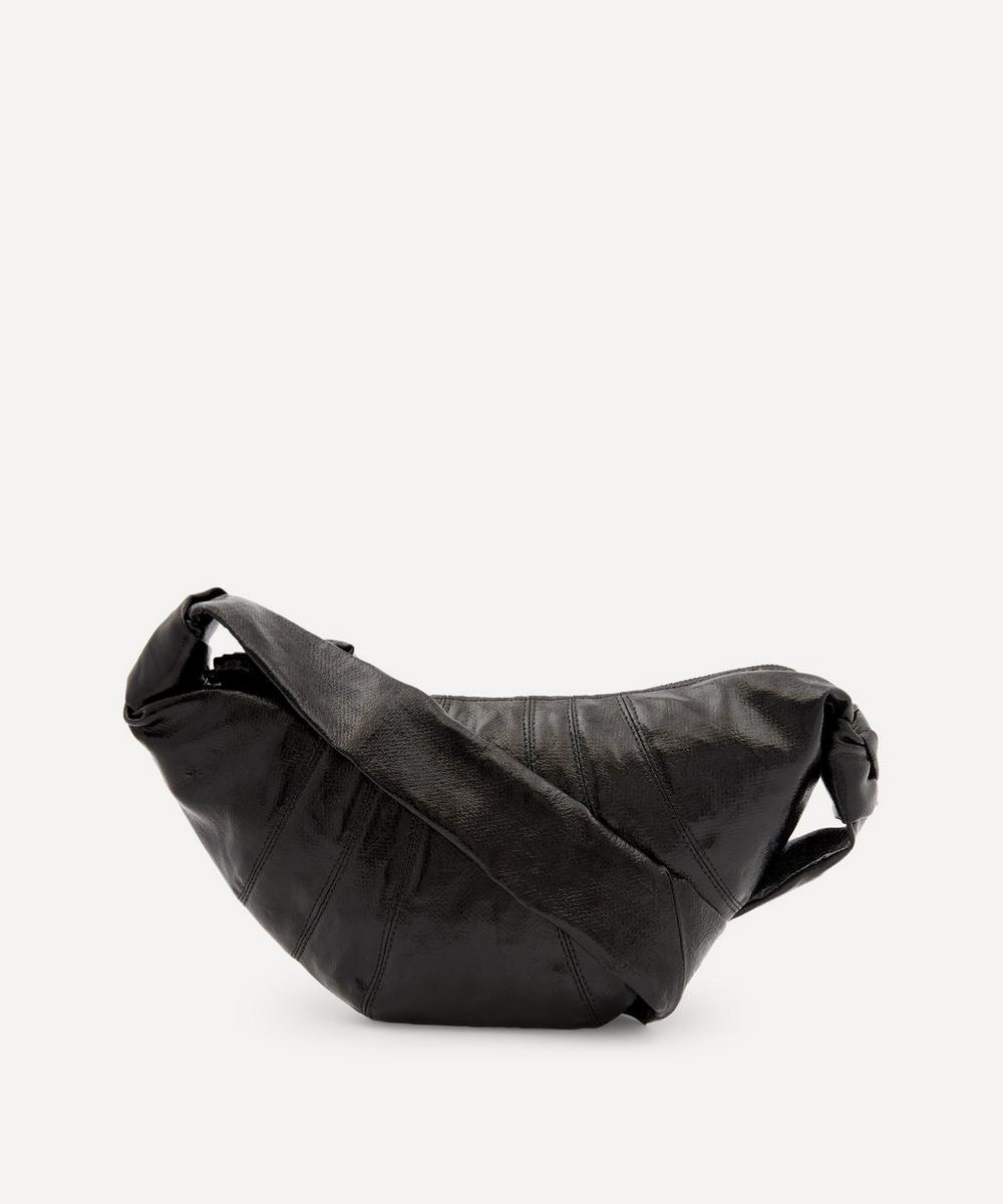 Lemaire - Small Coated Linen Canvas Croissant Shoulder Bag