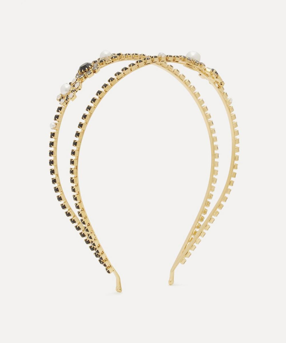 Erdem - Crystal Cluster Double Headband