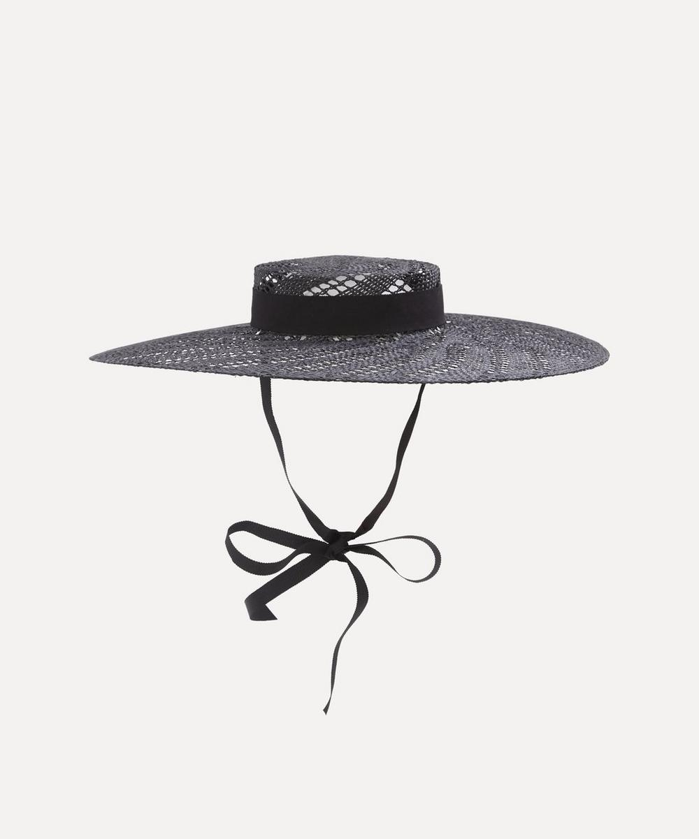 Erdem - x Noel Stewart Wide Brim Straw Boater Hat