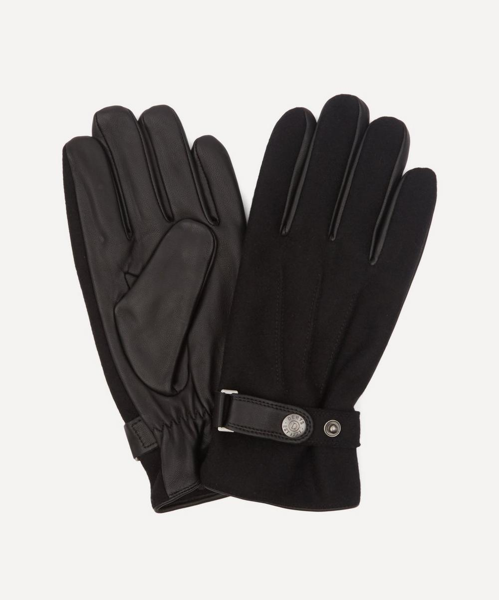 Dents - Guildford Fleece-Lined Flannel and Leather Gloves
