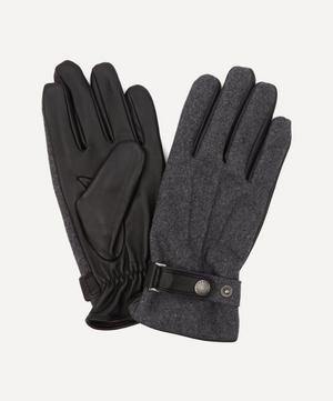 Guildford Fleece-Lined Flannel and Leather Gloves
