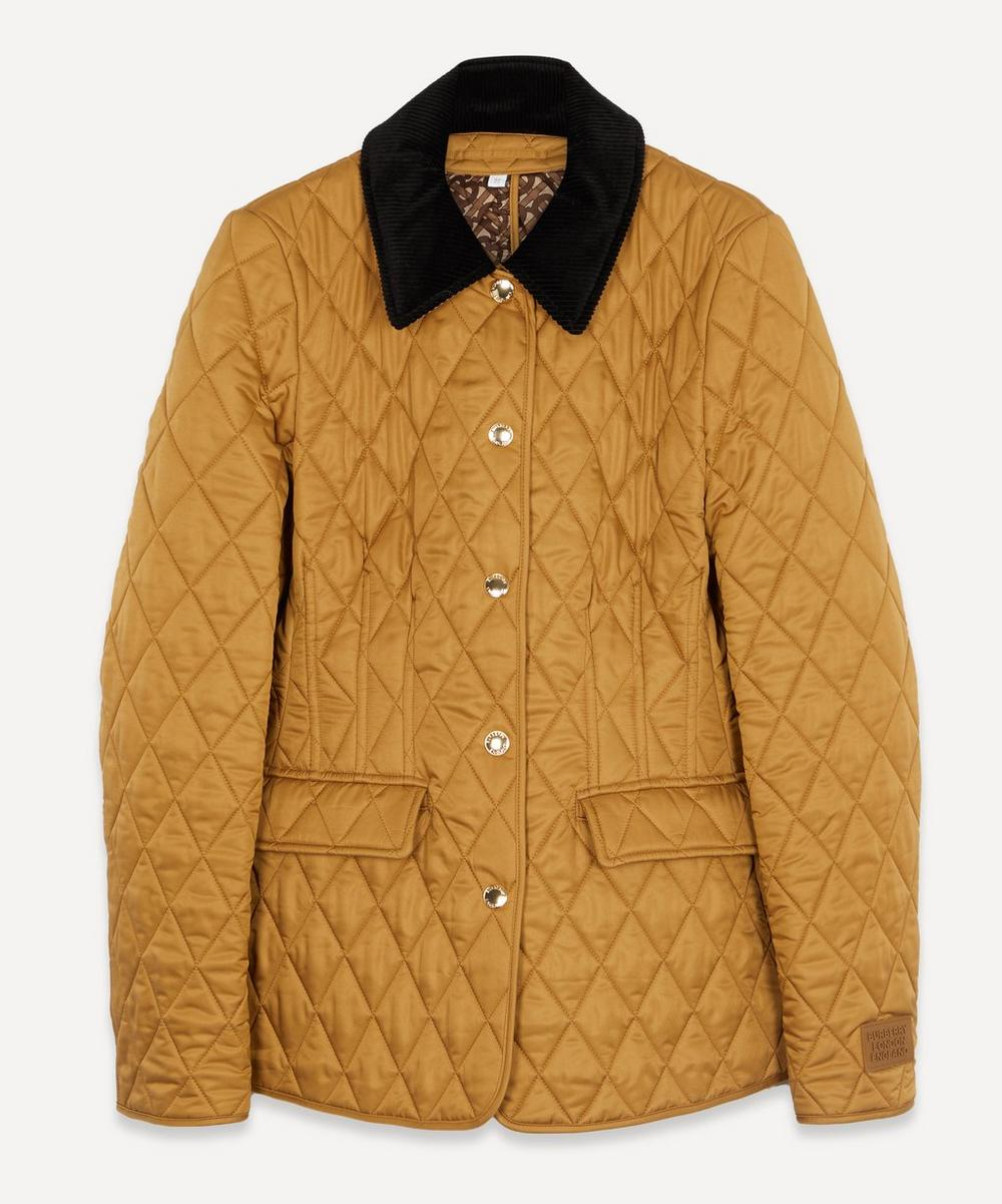 Burberry - Corduroy Collar Quilted Barn Jacket