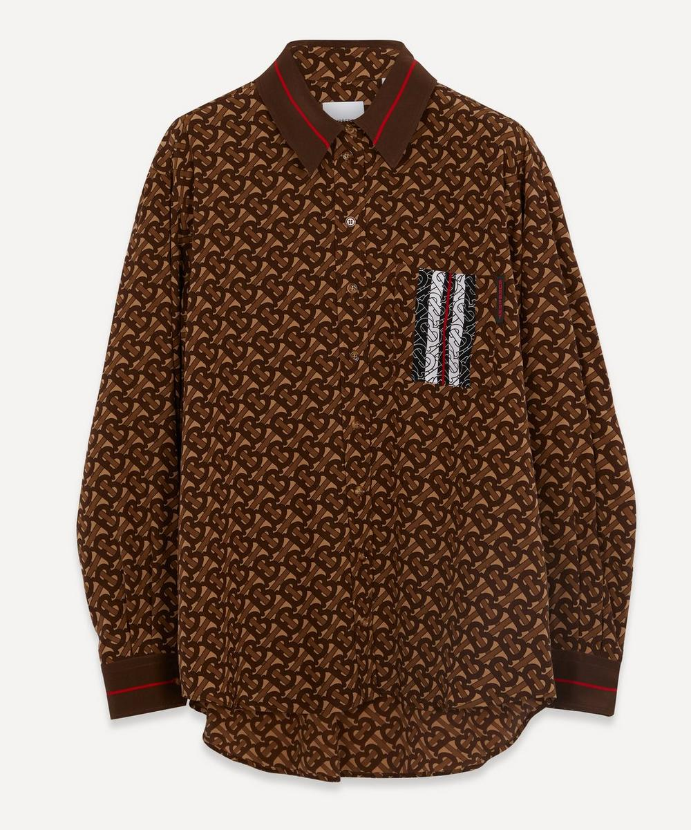 Burberry - Monogram Stripe Print Silk Shirt