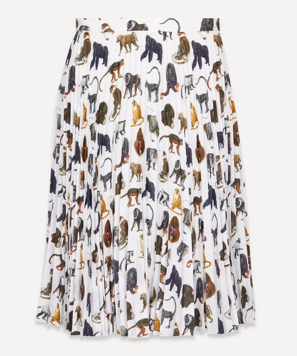 Burberry - Monkey Print Pleated Skirt