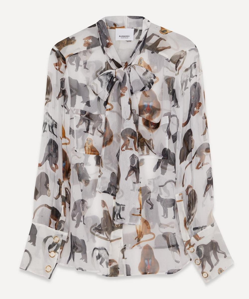 Burberry - Monkey Print Silk Blouse