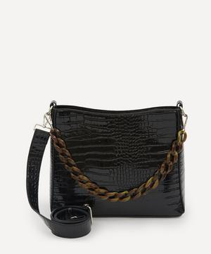 Amble Croco Chain Tote Bag