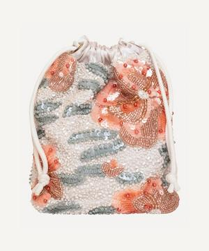 Water Lily Beaded Pouch Bag