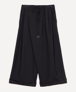Tropical Wool Wide-Leg Trousers
