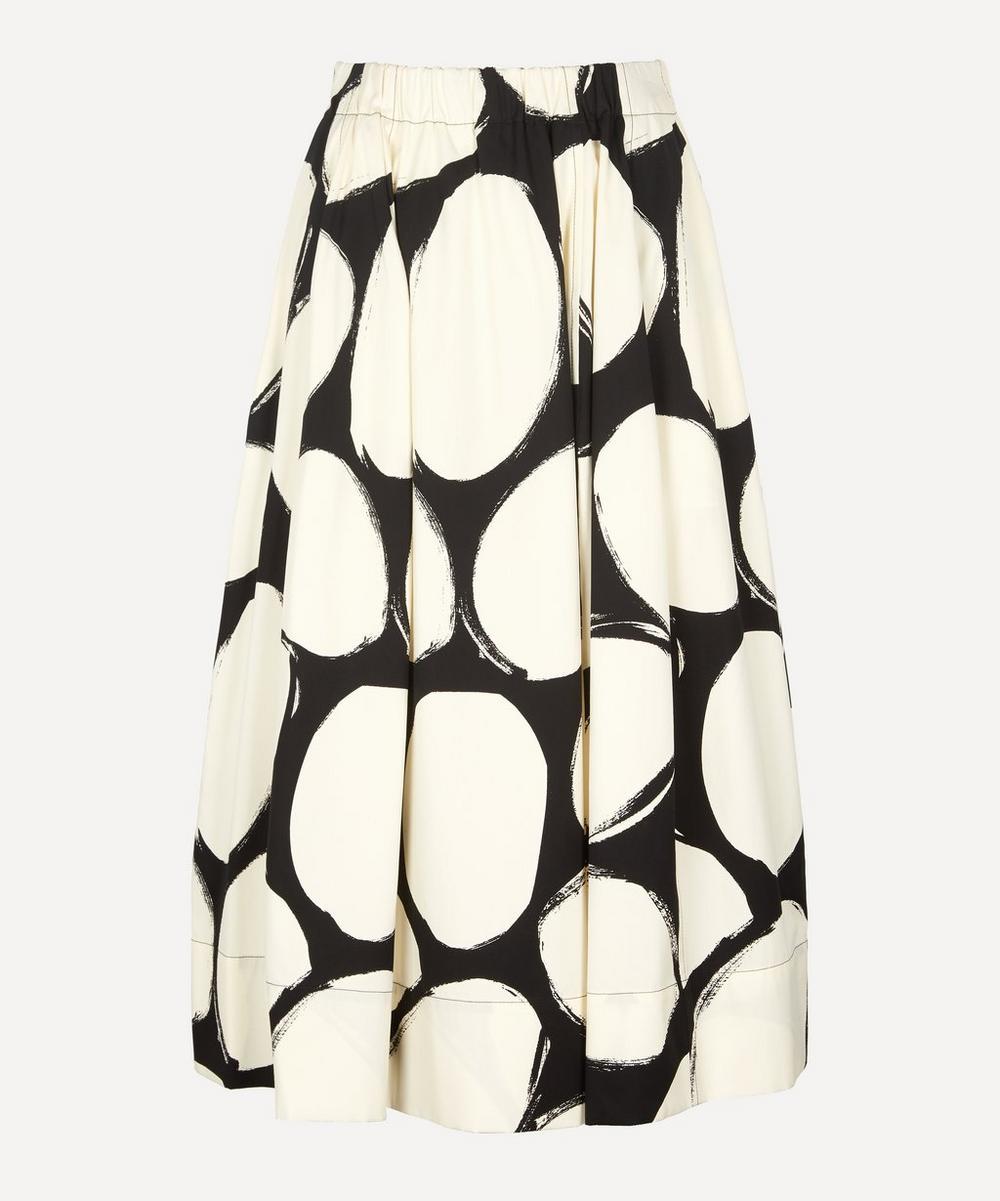 Marni - A-Line Pebble Print Cotton Poplin Skirt