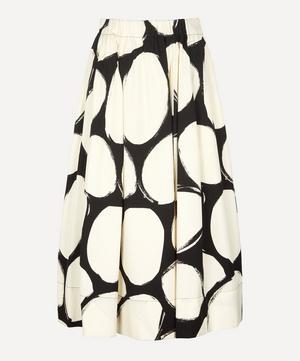 A-Line Pebble Print Cotton Poplin Skirt