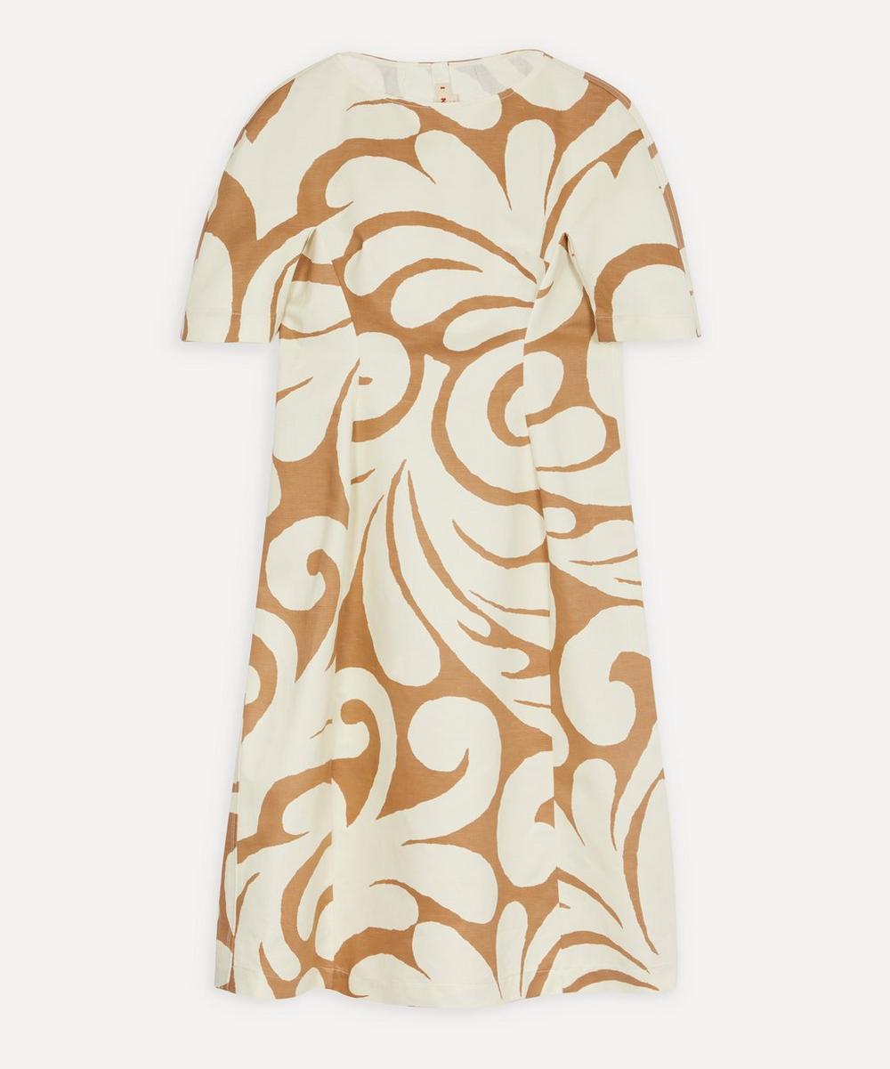 Marni - Arabesque Print Linen Drill Dress
