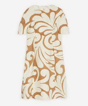 Arabesque Print Linen Drill Dress