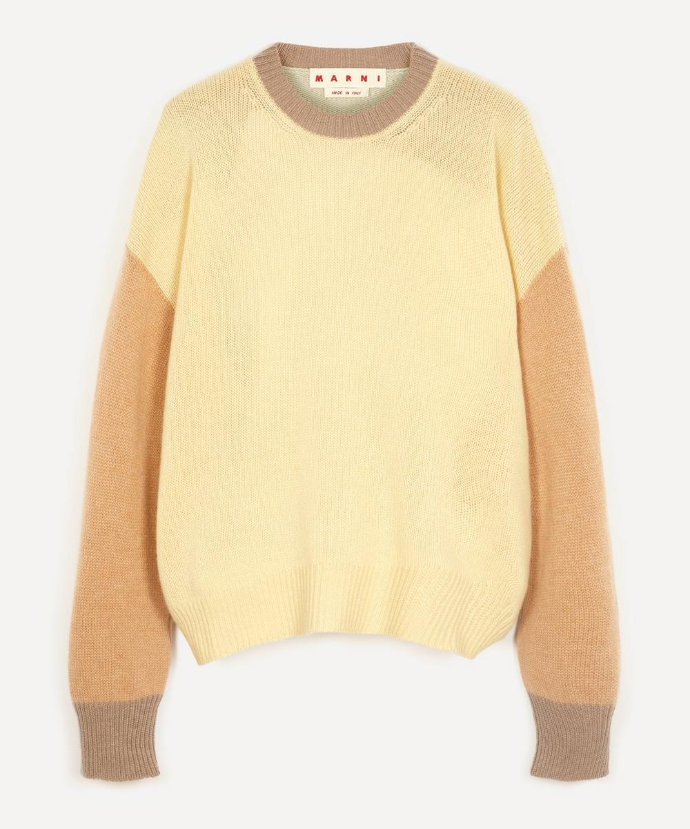 Marni - Colour Block Cashmere Crewneck Sweater